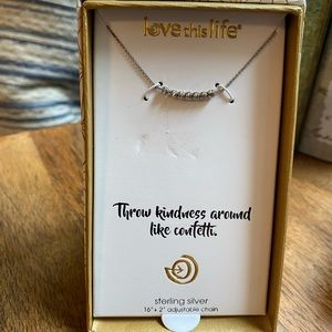 Love this Life Sterling Silver Bead Neckla…